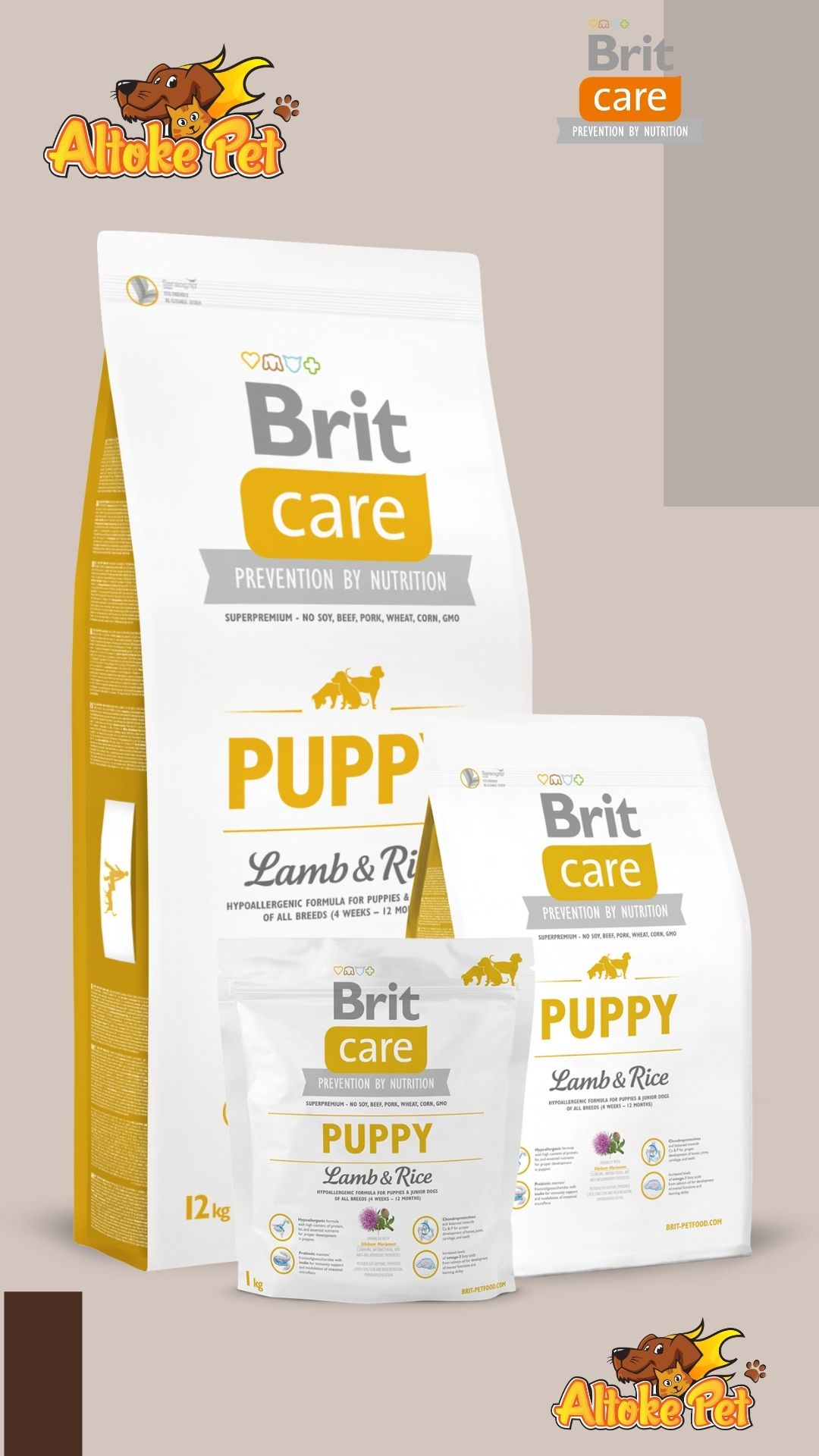 Altoke Pet - Brit Care Puppy Cordero
